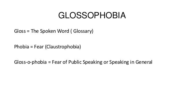 Glossophobia: Fear and Early Traumatic Events