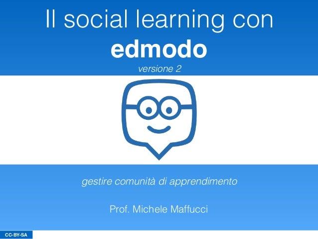 CC-BY-SA Il social learning con edmodo versione 2 Prof. Michele Maffucci gestire comunità di apprendimento