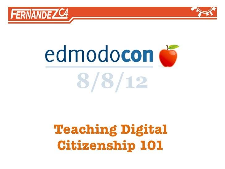 Teaching DigitalCitizenship 101