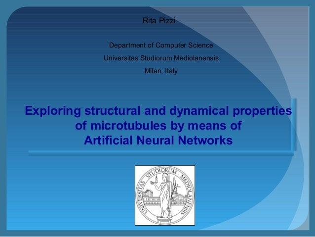 Department of Computer Science Universitas Studiorum Mediolanensis Milan, Italy Rita Pizzi Exploring structural and dynami...