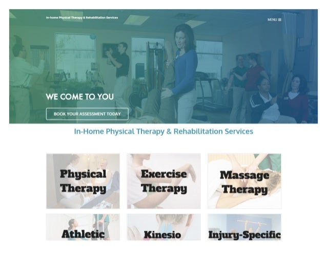 In-homo Physical Vhanpyl Rohabllltauon sorvlcos  WE COME TO YOU  BOOK YOUR ASSESSMENT TODAY  In-Home Physical Therapy 8. R...