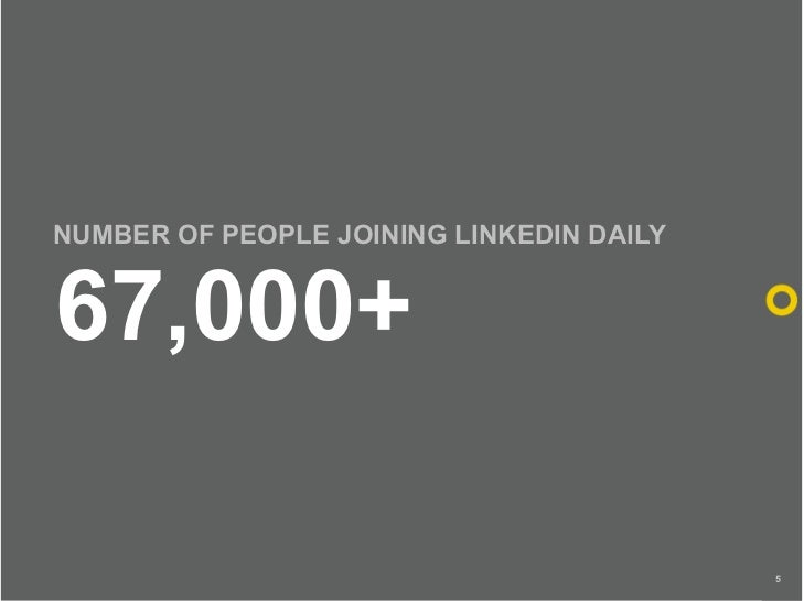 NUMBER OF PEOPLE JOINING LINKEDIN DAILY   67,000+                                            5