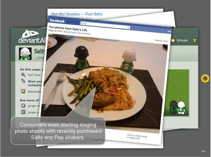 Consumers even starting staging photo shoots with recently purchased        Salty and Pep shakers.                        ...