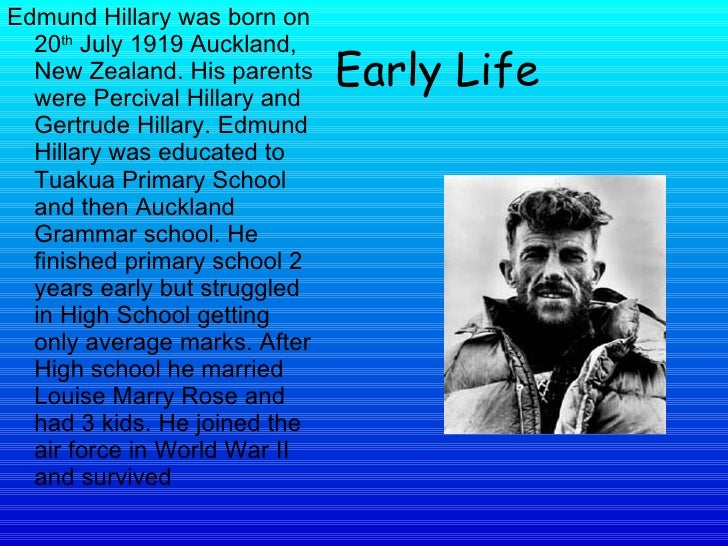 Edmund Hillary Facts For Kids
