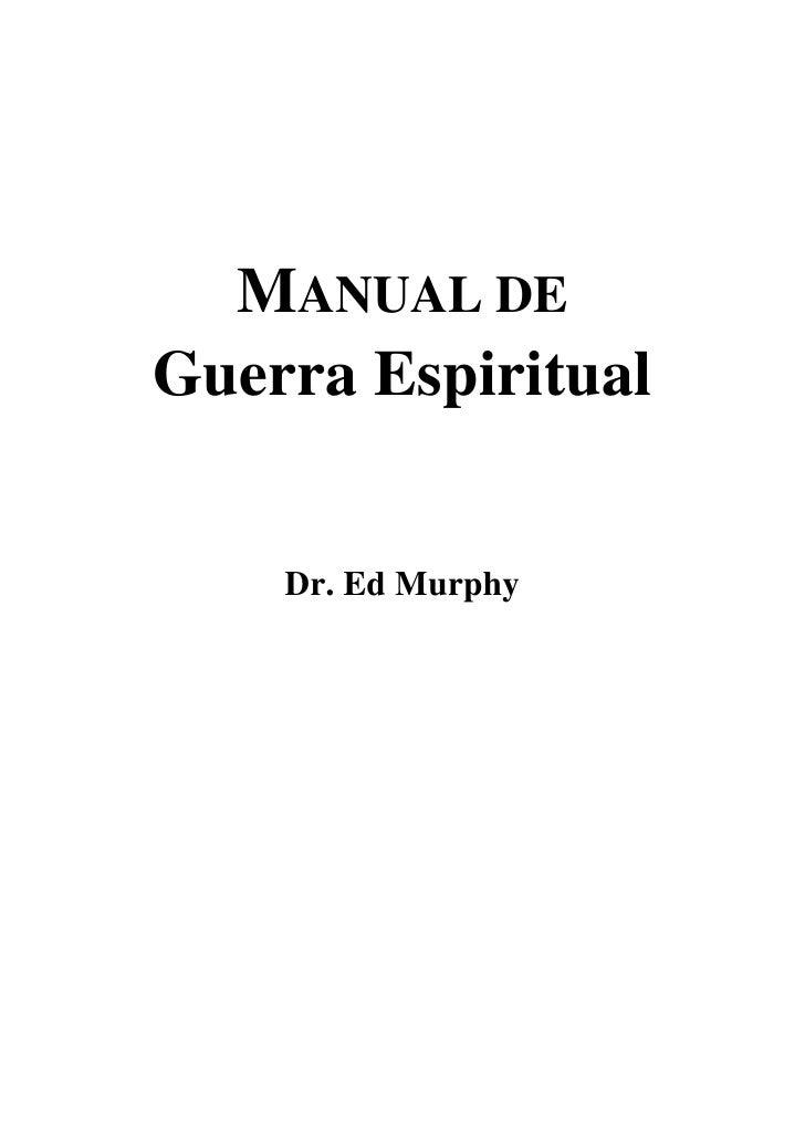 Ed murphy manual de guerra espiritual