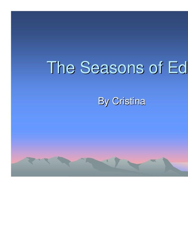 The Seasons of Edo      By Cristina