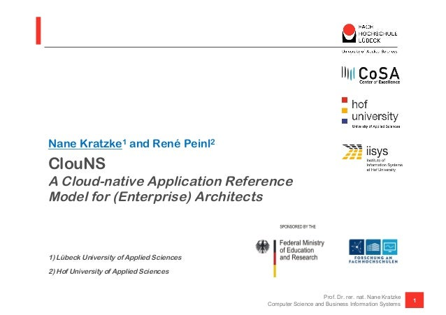 ClouNS A Cloud-native Application Reference Model for (Enterprise) Architects 1) Lübeck University of Applied Sciences 2) ...