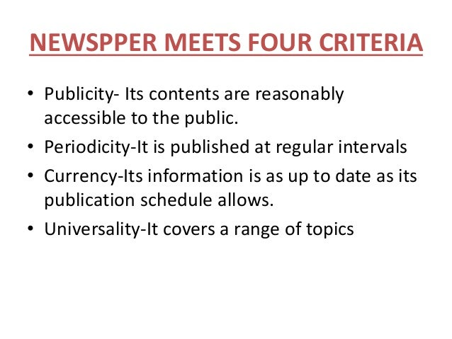 importance of newspaper 10 points