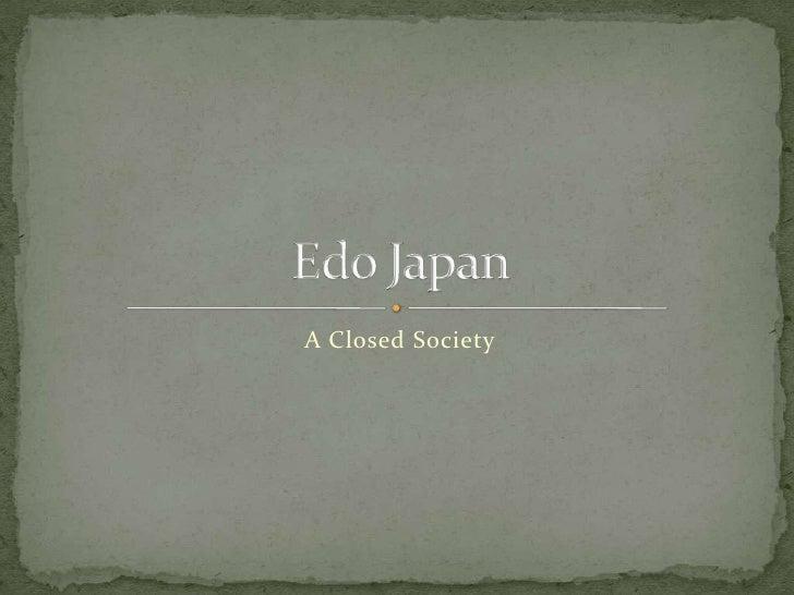 A Closed Society