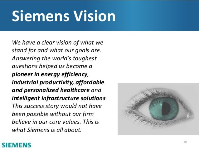 Siemens corporate strategy and proposed acquisition for Vision industries group
