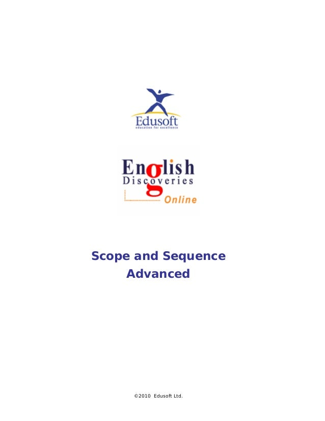 Scope and Sequence Advanced ©2010 Edusoft Ltd.