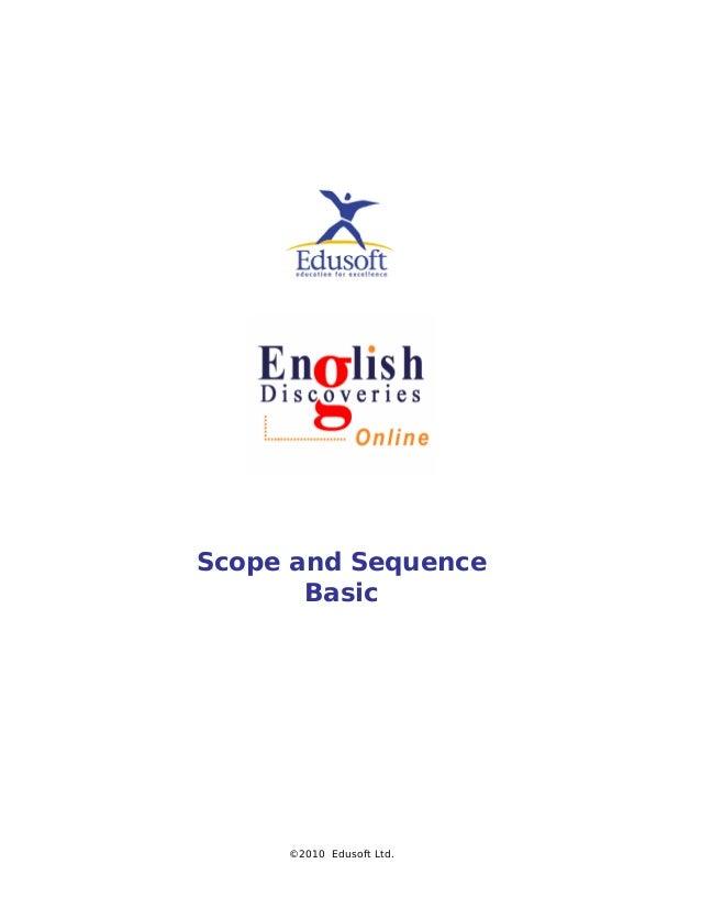 Scope and Sequence Basic ©2010 Edusoft Ltd.