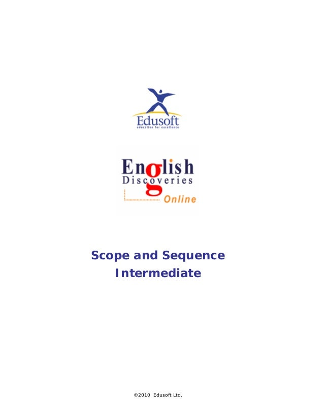 Scope and Sequence Intermediate ©2010 Edusoft Ltd.