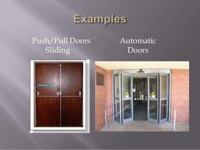 Pushpull Doors Sliding Automatic Doors   Ef  A Universal Design