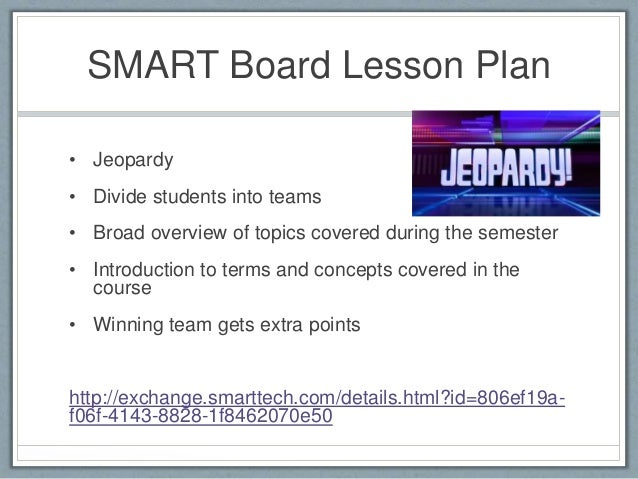 Jeopardy Lesson Plan Sample
