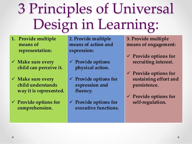 University Classroom Design Principles To Facilitate Learning ~ Universal design in education