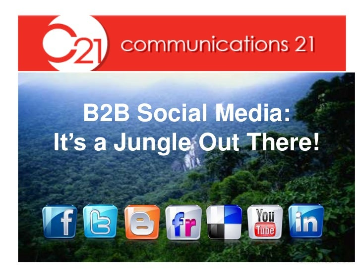 B2B Social Media:  It's a Jungle Out There!<br />
