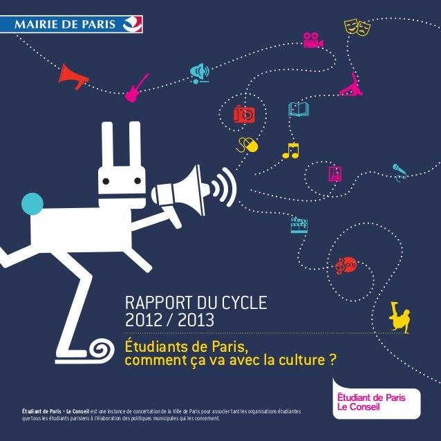 Étudiant de Paris - Le Conseil est une instance de concertation de la Ville de Paris pour associer tant les organisations ...
