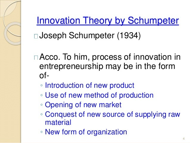 The schumpeter hypothesis