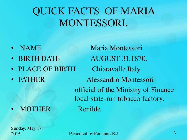 montessori facts Montessori is a familiar term in the singapore preschool scene, but how much do  you know about this educational philosophy.