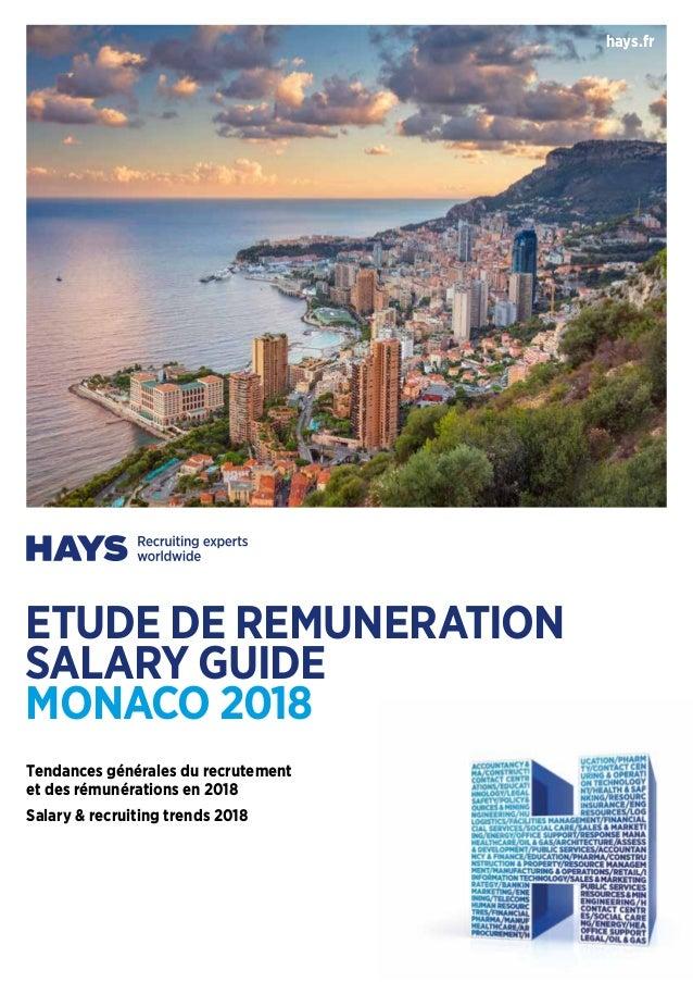 hays.fr Tendances générales du recrutement et des rémunérations en 2018 Salary & recruiting trends 2018 ETUDE DE REMUNERAT...