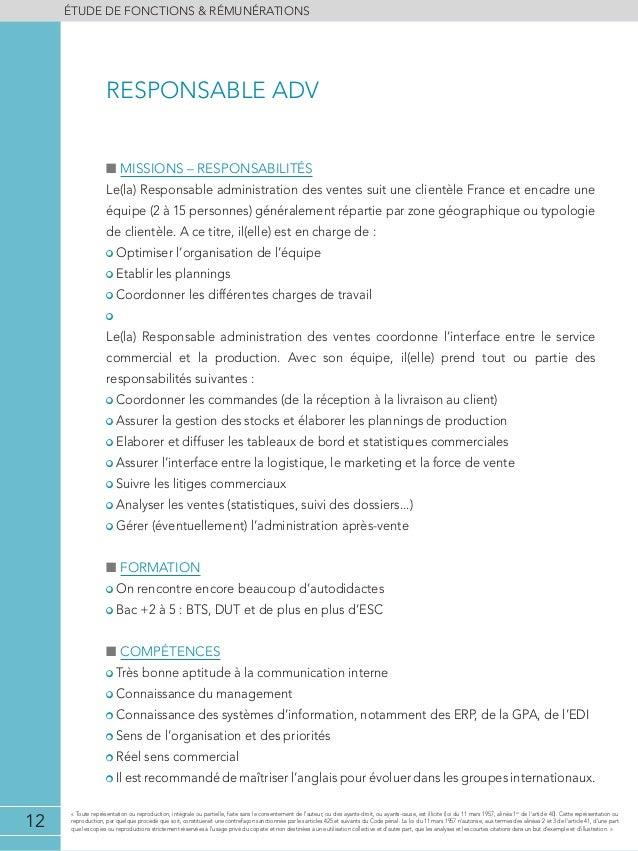 Etude De Remunerations Adv Import Export 2013 2014