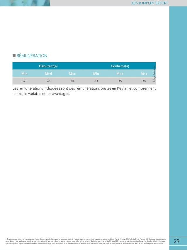 etude de r u00e9mun u00e9rations adv  u0026 import export 2013