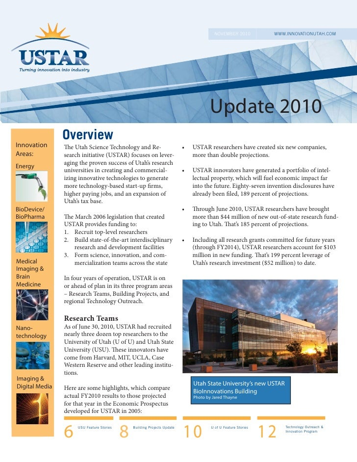 USTAR 2010 Final Report