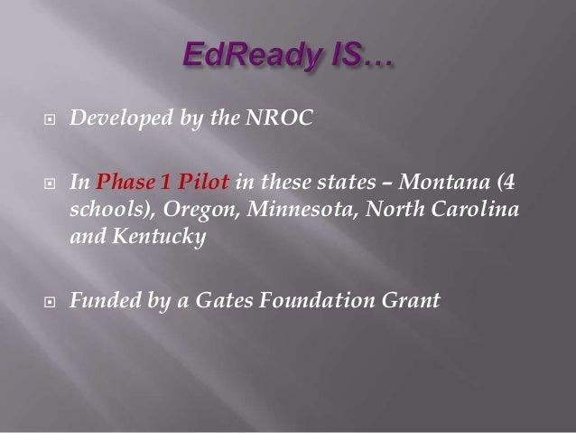 Ed ready msca presentation 4 10 2013 Slide 2