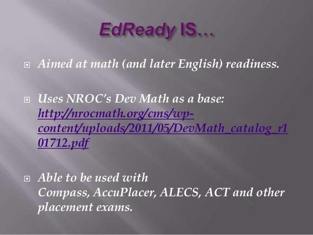 Ed ready msca presentation 4 10 2013 Slide 3