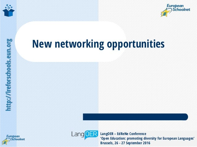 http://lreforschools.eun.org LangOER – EdReNe Conference 'Open Education: promoting diversity for European Languages' Brus...