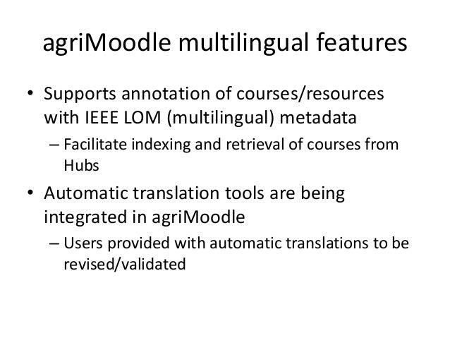 Using language services to enrich the LOs' descriptions