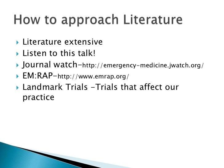 Emergency medicine research
