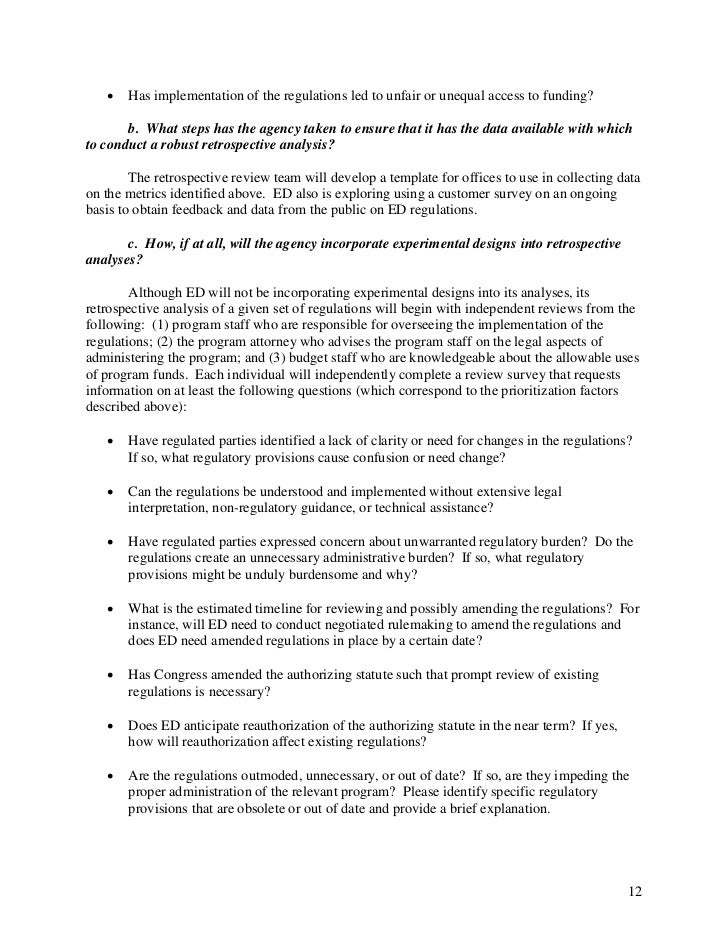 Education Plans Lack Clarity On >> Department Of Education Preliminary Regulatory Reform Plan