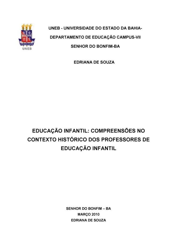 Monografia Edriana pedagogia 2010