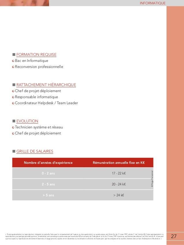 Etude de r mun rations informatique 2013 2014 - Grille salaire technicien informatique ...