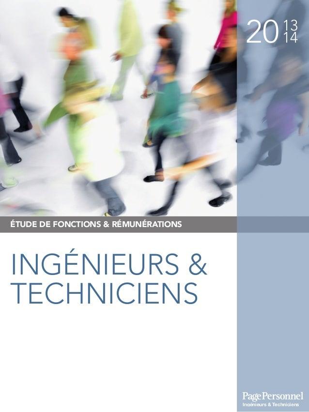 2013 14 ÉTUDE DE FONCTIONS & RÉMUNÉRATIONS INGÉNIEURS & TECHNICIENS Ingénieurs & Techniciens