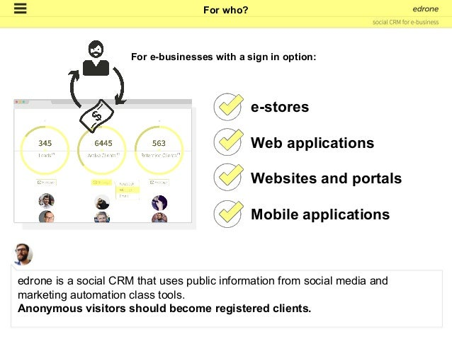 1. Clients, users and anonymous users. to be continued... How edrone CRM works?