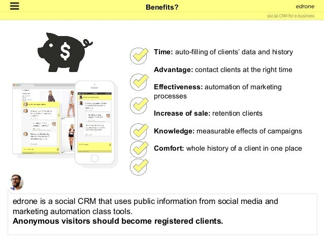 2. are visiting your website, e-store or a mobile application to be continued... How edrone CRM works?