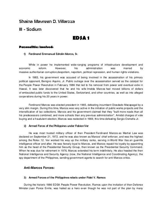 term paper about edsa revolution