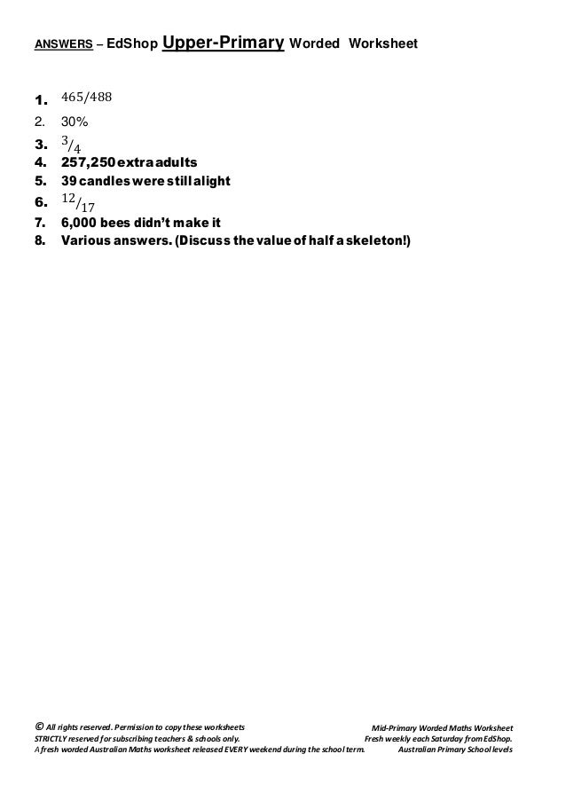 ed shop upperprimary maths worksheet