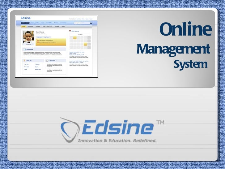 Online   Management  System