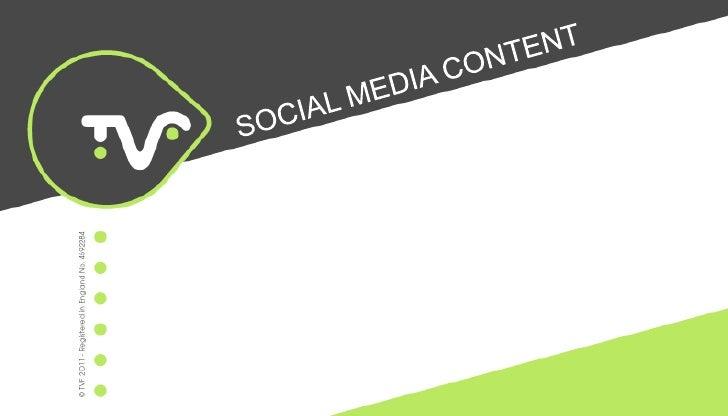 SOCIAL MEDIA CONTENT<br />