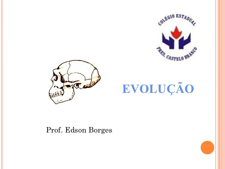 EVOLUÇÃOProf. Edson Borges