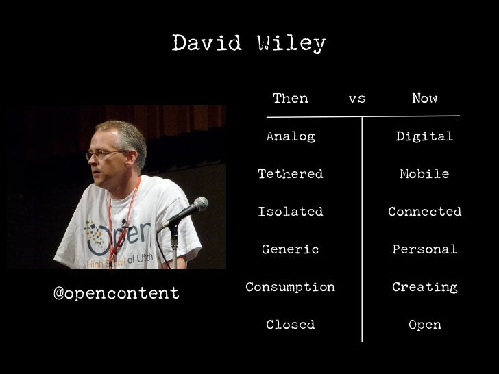 David Wiley                  Education     vs   Everyday                    Analog            Digital                   Te...