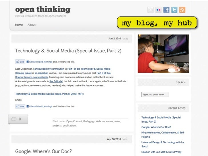 my blog, my hub