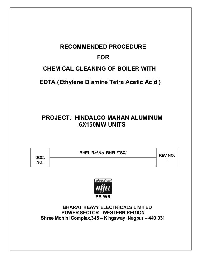 boiler chemical cleaning procedure pdf