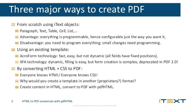 ETDA Conference - HTML to PDF conversion with pdfHTML
