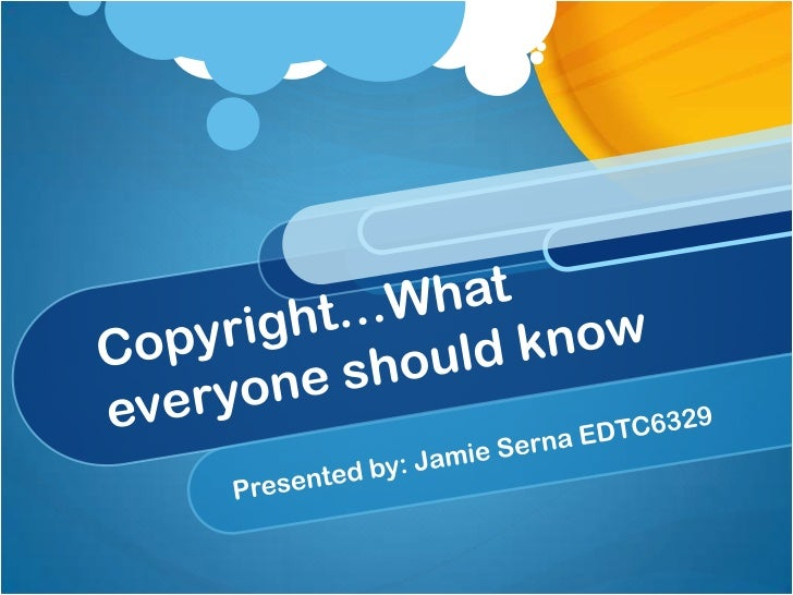 "What is copyright?""Copyright is a form of protectiongrounded in the U.S. Constitution andgranted by law for original works..."