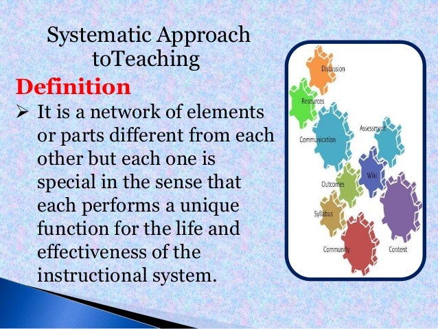 Educational Technology Systematic Approach To Teaching